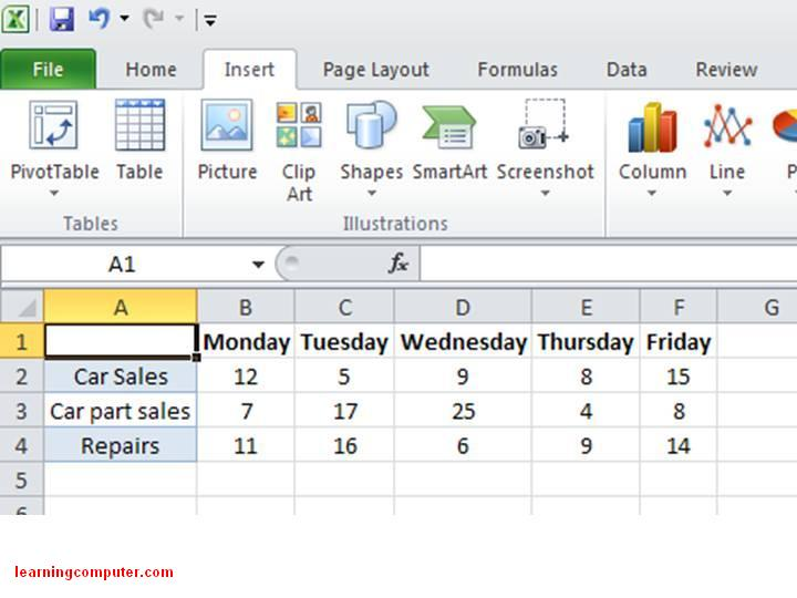 Excel 2010 - How to enter Sparkline data13