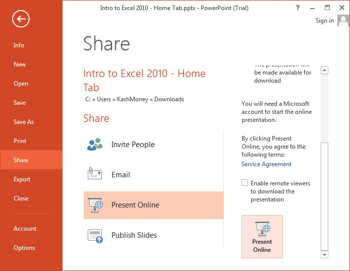 How to Share Powerpoint Online