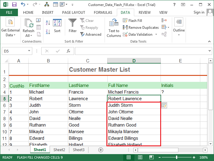 Excel 2013 Training example5b