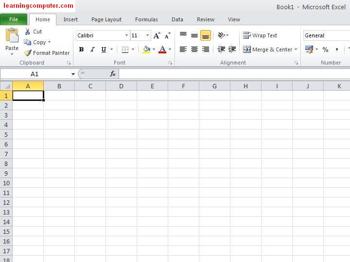 Microsoft Excel 2010 - General look1