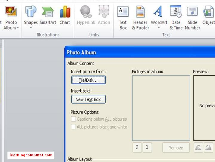 PowerPoint How to create Photo Album13