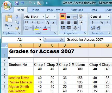 microsoft excel 2007 home tab learn tools to use ms excel 2007 it computer training. Black Bedroom Furniture Sets. Home Design Ideas