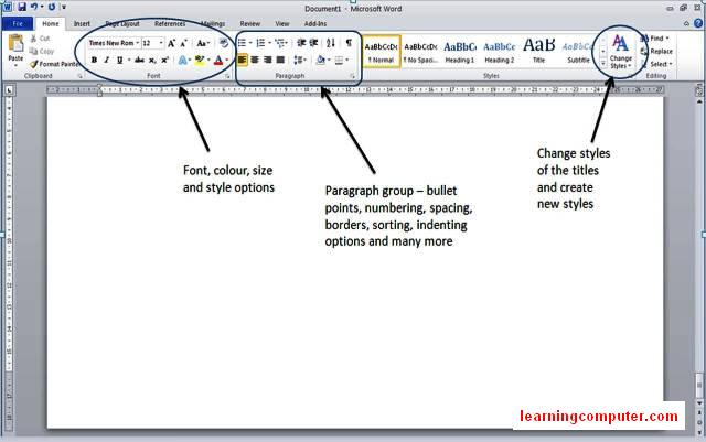 ms-word-2010-groups-of-home tab9