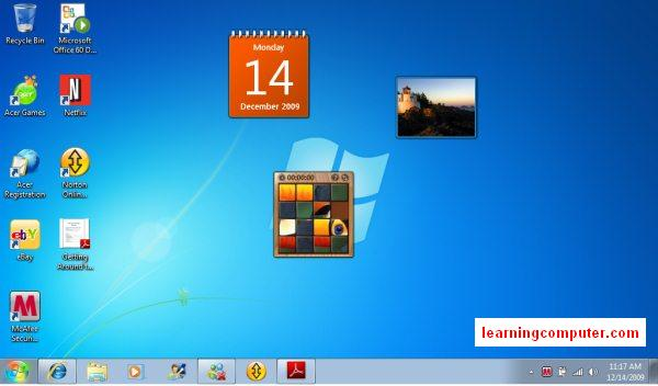 windows 7 interface