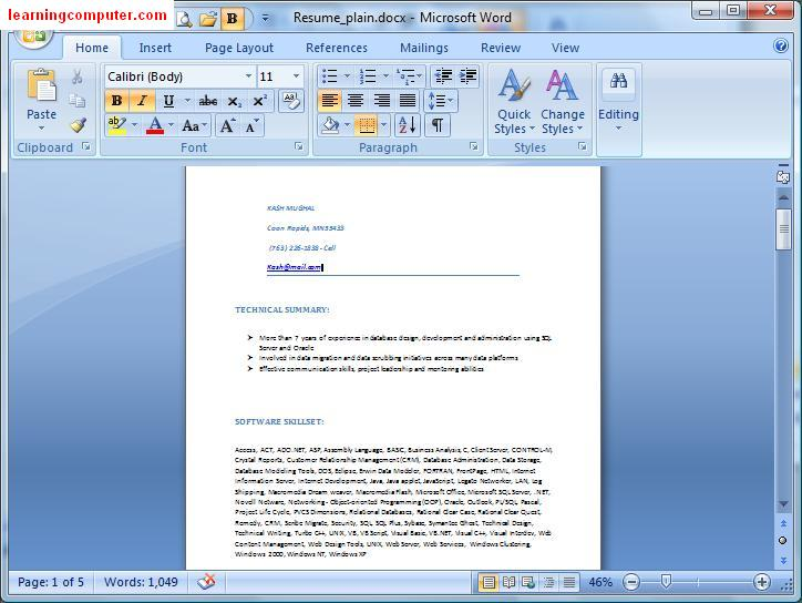 Saving Word Document