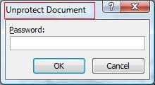 Dialog box protection MS Word