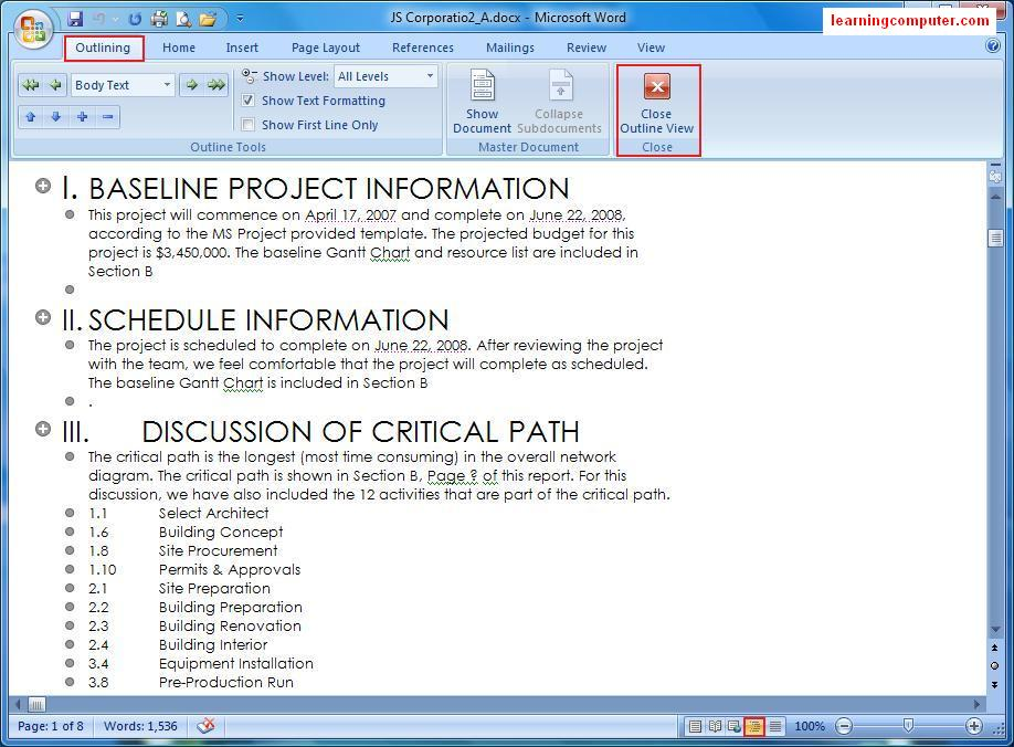 how to turn a word document into book format