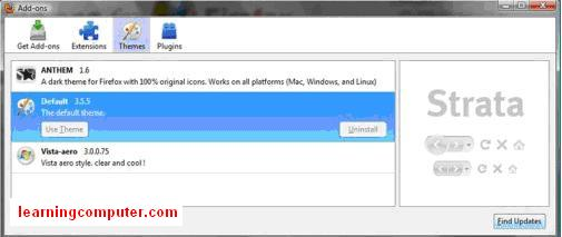 What is firefox addons panel