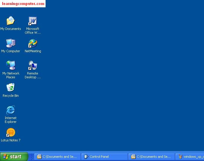 what is microsoft windows xp desktop