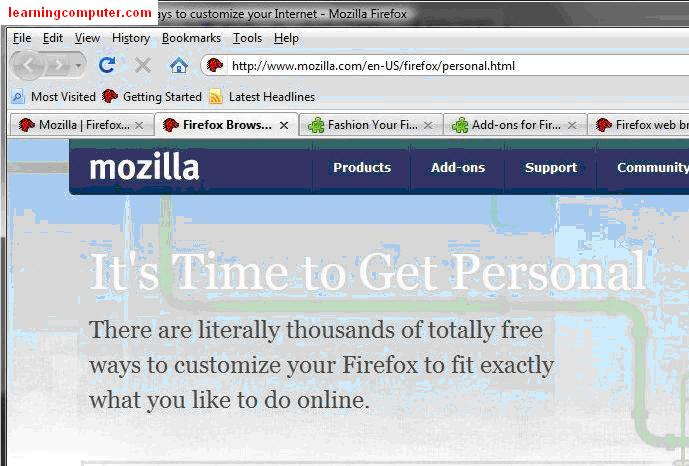 What is tab in mozzilla firefox