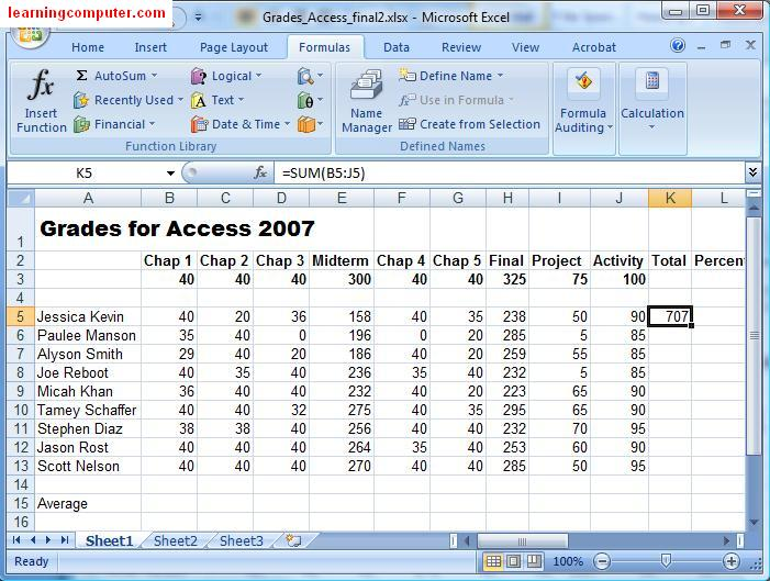 Excel 2007 Autofill and Autosum  YouTube