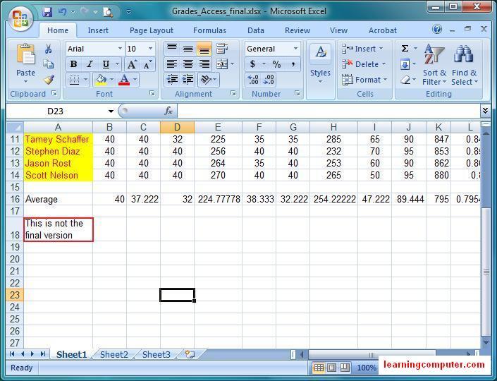 microsoft excel 2007 tutorial  u2013 home tab