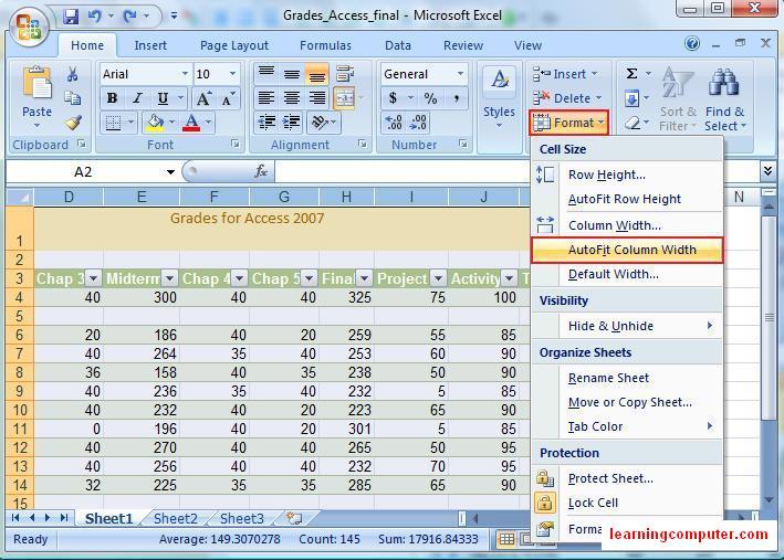 Microsoft Excel 2007 Tutorial – Home Tab   Softknowledge's Blog