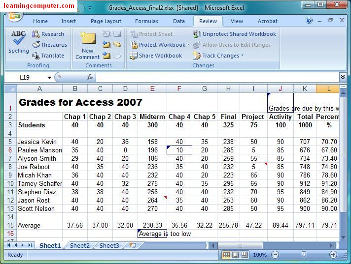 Free Worksheets unprotect worksheet : Microsoft Excel 2007 u2013 Review Tab : Softknowledgeu0026#39;s Blog