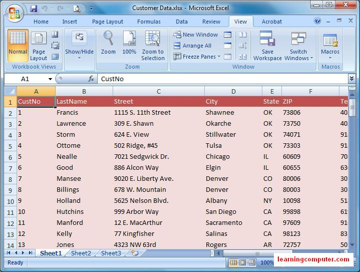 Microsoft Excel 2007 – View Tab | Softknowledge's Blog
