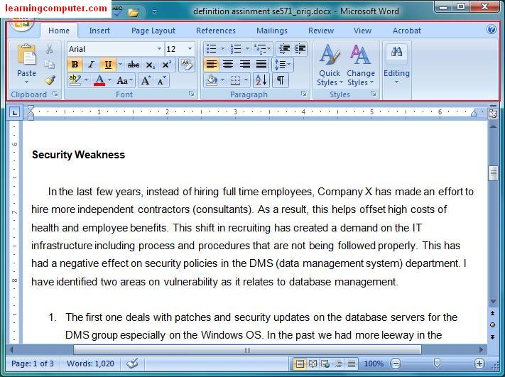 Microsoft Word 2007::New Look
