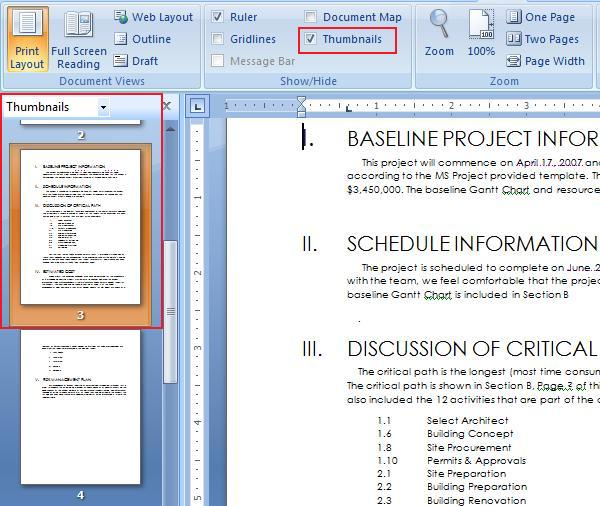 how to cut one page from a word document