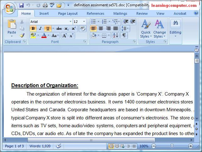 Microsoft Document View