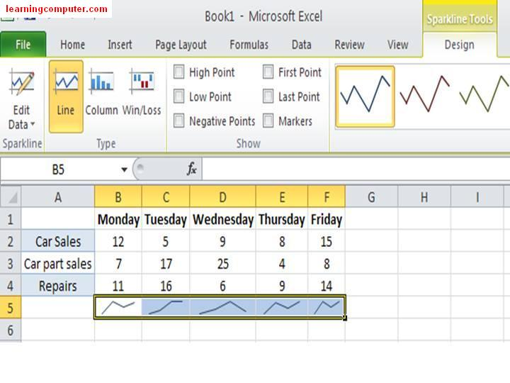 Excel 2010 - New Features of Sparkline16