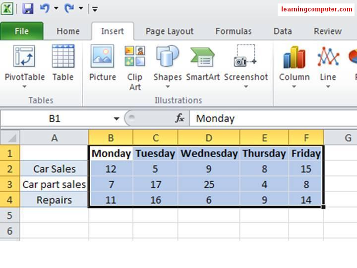 Excel 2010 help - How to insert Sparklines14