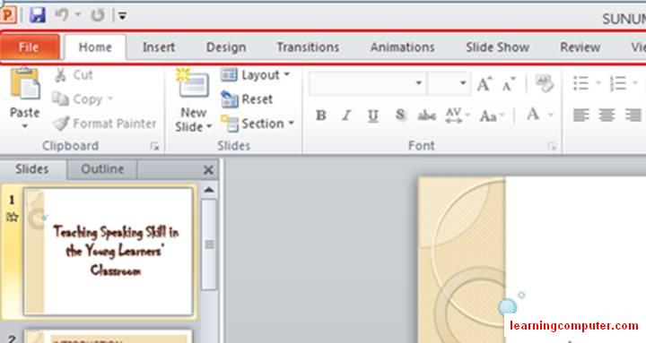 PowerPoint 2010 Ribbon Home tab6