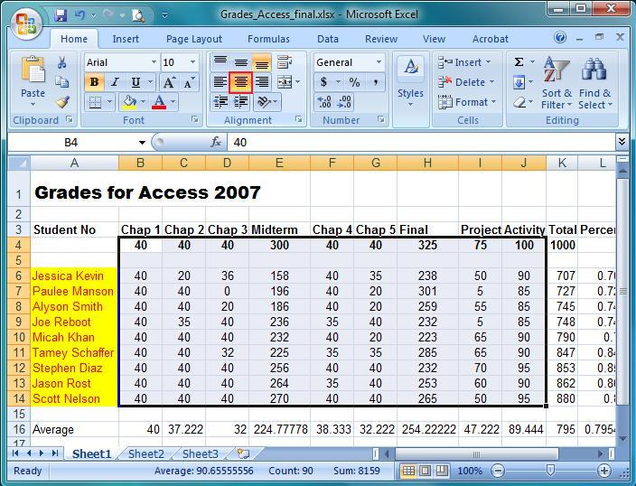 Microsoft Excel – Home Tab – IT Computer training