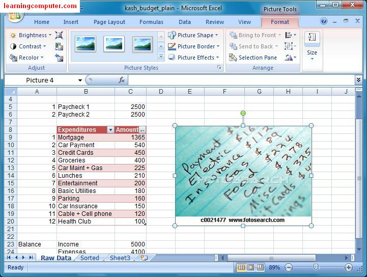 Insert Picture Dialog Box Excel