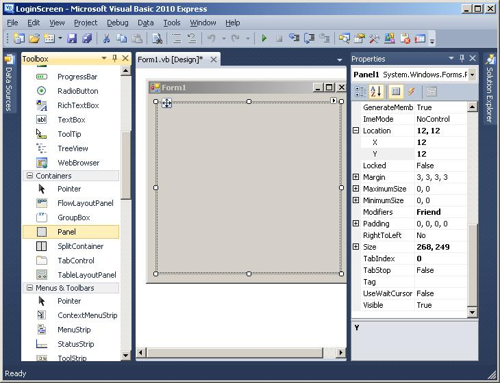 how to add controls to visual basic