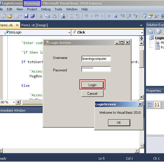 Visual Basic – IT Computer training – Learningcomputer com