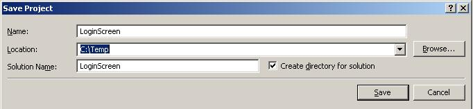 how to visual basic save project