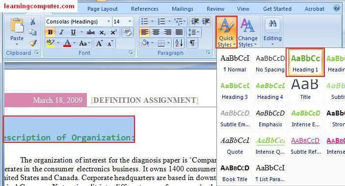 ms word 2007 tutorial pdf in gujarati