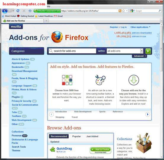 what are addons for firefox browser