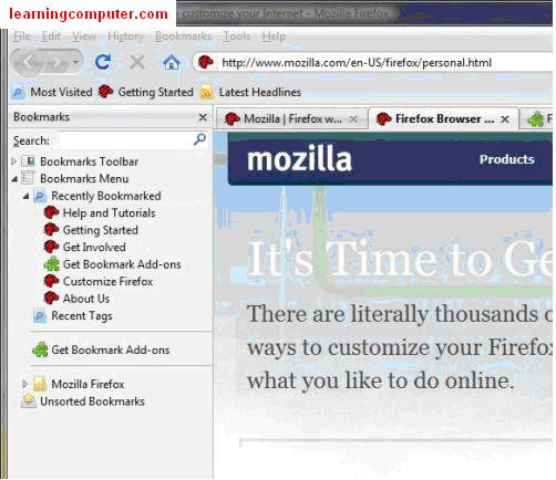 How to create bookmark mozzila firefox