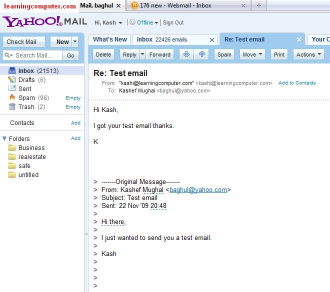 check new e-mail messages in webmail