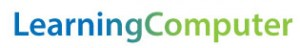 Learning Computer Logo. Logo starts blue on the left side and fades to green on the right.