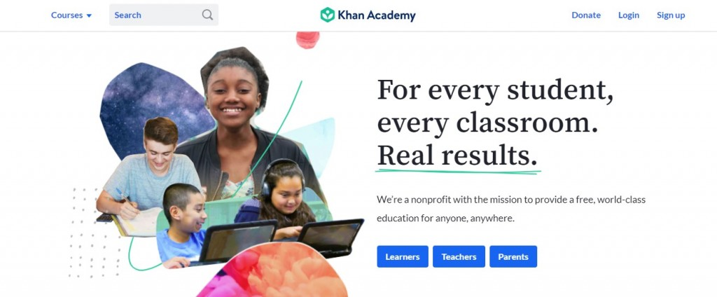 khan academy a popular technology website