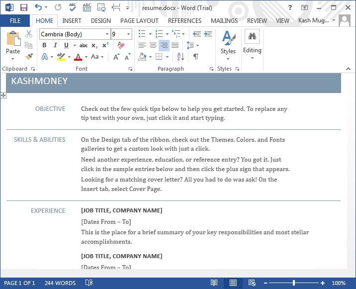 Calendar Printing And Design Through Ms Word