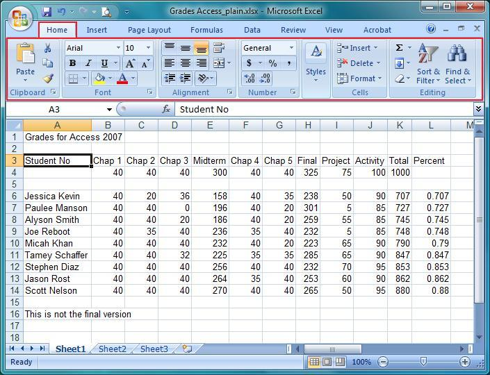 before we begin here is a screen shot of the student grades data that we will be using for practice