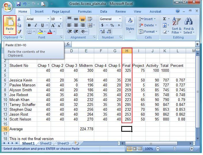 Ms excel tutorial 2007