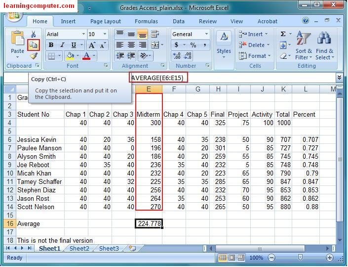 Microsoft Excel 2007 Tutorial – Home Tab | Softknowledge's Blog