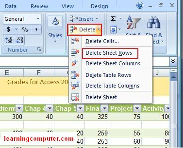 Microsoft Excel Home Tab