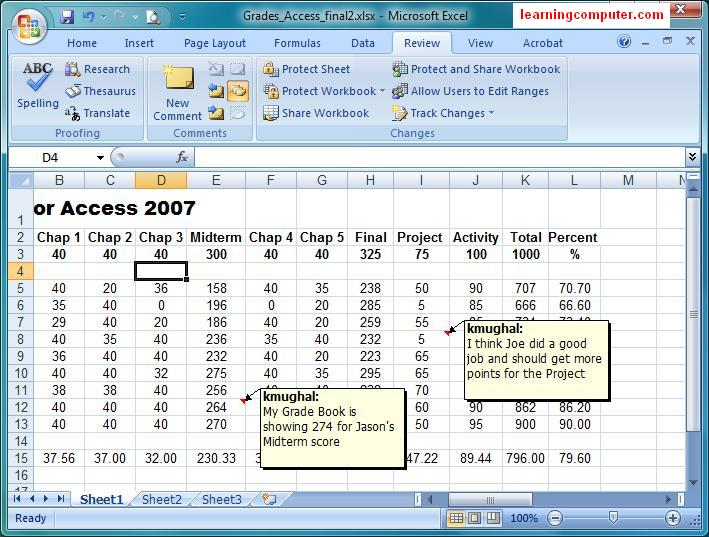 microsoft tutorial excel review tab. Black Bedroom Furniture Sets. Home Design Ideas