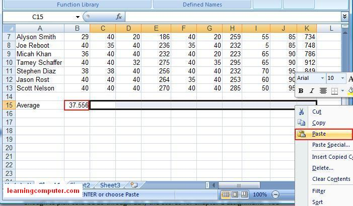 microsoft excel formulas for average 8