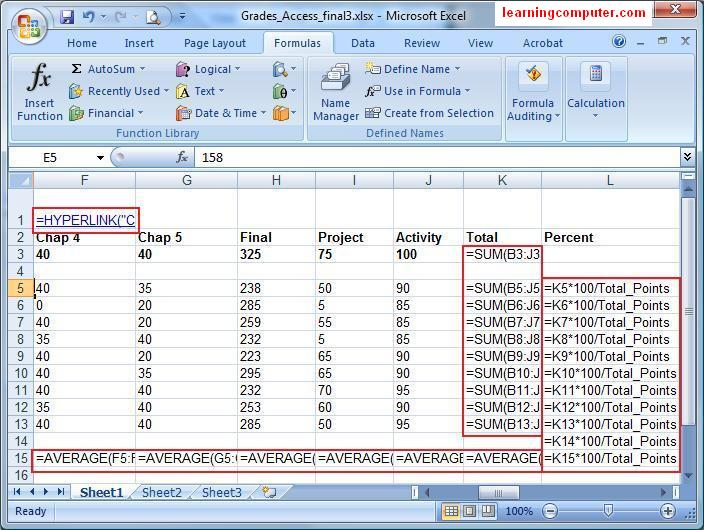ms excel formulas with examples pdf free download 2007