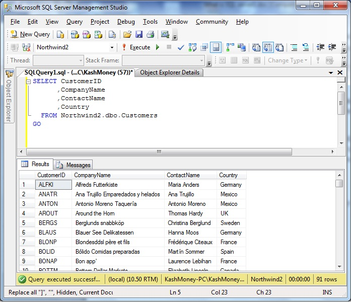 what is sql server command