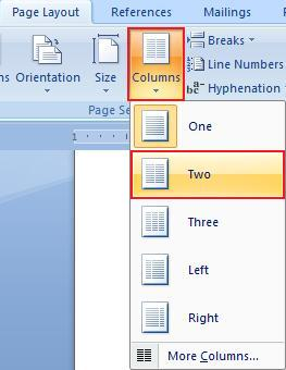 Select Columns in Office 2007 11
