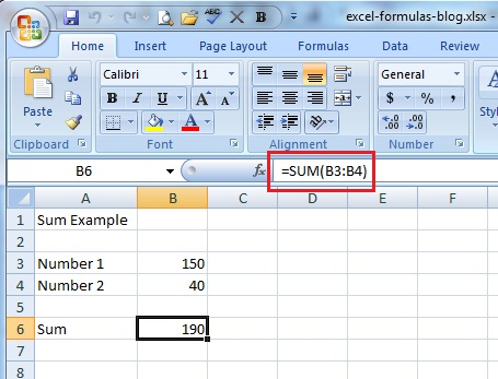 excel 2007 tutorial how to use common excel formulas it